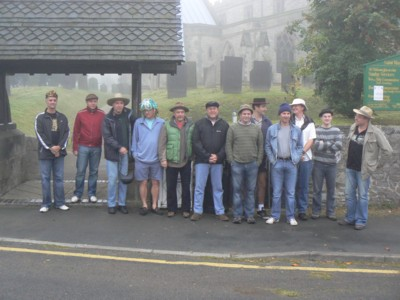 The party leave Wymeswold at 6.50am on the Friday morning. Note - It was compulsory to wear a hat or headgear while travelling!