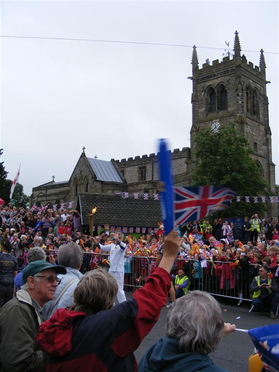 The Flame outside St Mary�s Church