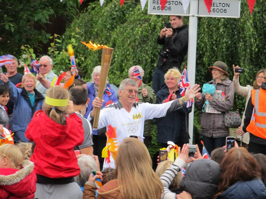 A close-up of Ted Collins with the Flame