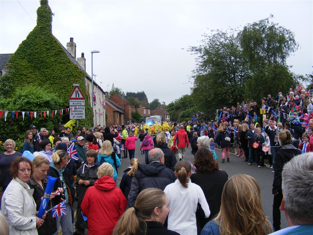The Torch Relay continues along East Road